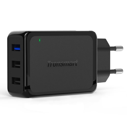 Tronsmart W3PTA UK WC3PTAC 3USB-port Wall Charger Qualcomm Quick Charge 3.0 High-Speed for iPhone Android Smartphone