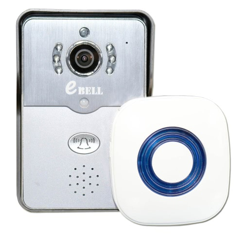 EBELL ATZ - DBV01P - 433MHZ campanello intelligente con Wireless Indoor ricordando dispositivo 433MHz Chime coperta Full Duplex Audio HD telecomando Home sicurezza PIR Motion Detection Smart IP WiFi Video campanello supporto 720p 64GB TF Card per iPhone SE Android 4.0 IOS 7.0 o superiore