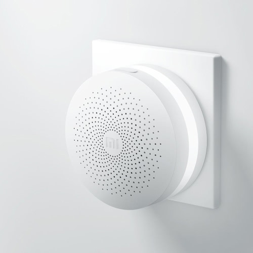 Original Xiaomi Gateway Inteligente Home Device Multifuncional Gateway Inteligente Mini On-line Noite Luz Bell Controle Remoto Sistema de Alarme Suporte Android iOS APP