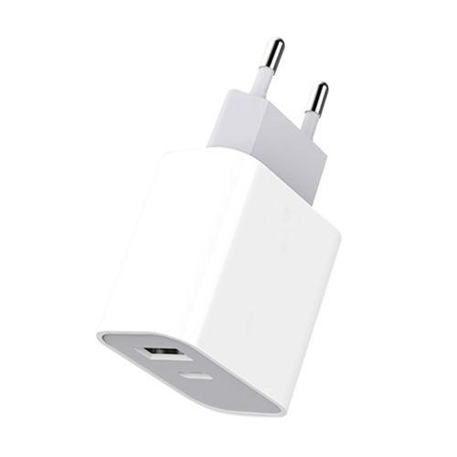 M-3 20W Dual Output Quick Charging Power Adapter Mini Portable Wall Charger with USB-C + USB-A Port for Phone/Laptop/Tablet