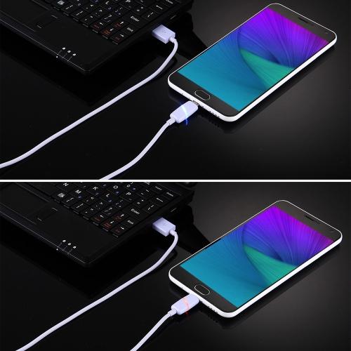 Micro USB Smart Breathing Light Datenkabel Durable Verwicklungsfreies Micro USB Ladekabel für Android Samsung Nokia Sony Huawei