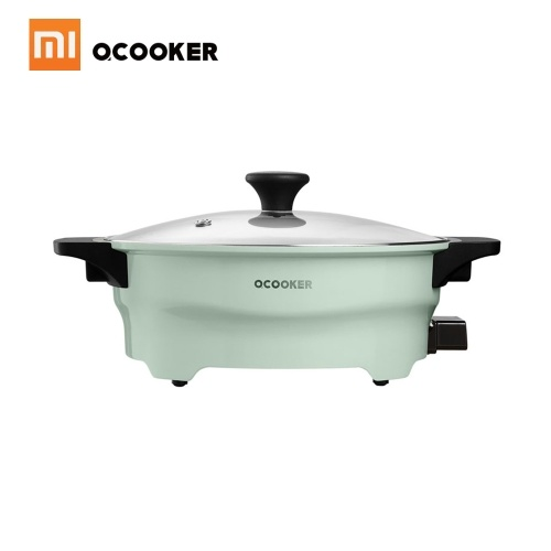 Xiaomi OCOOKER Hot Pot Twin Divided Two-Flavors Cookware Little Sheep Pot Hot Pot Soup Stock Pot Winter Party Cooking Tools 1500W 220V