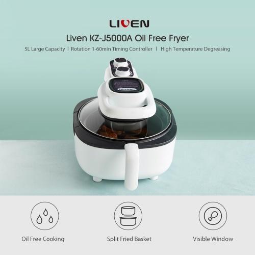 Xiaomi Youpin Liven KZ-J5000A Oil Free Fryer 5L Electric Hot Air Fryers Cooker