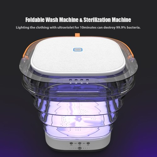Moyu Wash Machine XPB08-F1S Foldable Portable UV Sterilization Machine Folding Washer Touch Control For Travel 100-240V