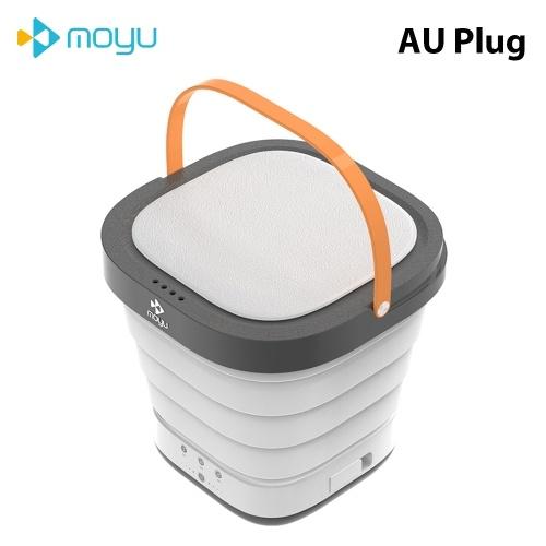 Портативная мини-стиральная машина Moyu XPB08-F1C Складная легкая дорожная стиральная ванна для кемпинговых общежитий Квартиры Колледж Одежда для деловых поездок 220 В