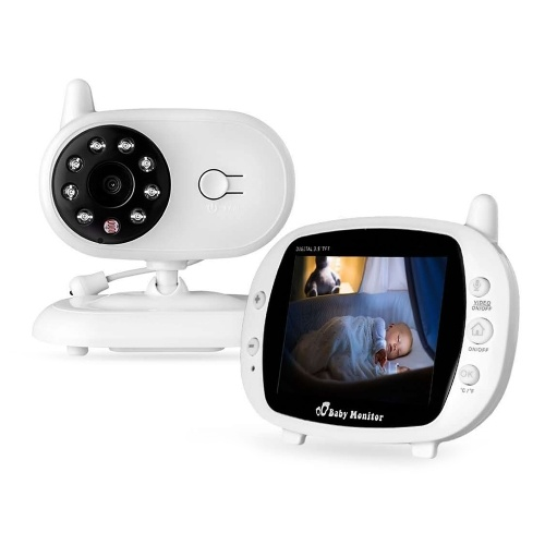 SP850 Video Baby Monitor Wireless Wifi Camera 3.5 Inches LCD Display Two Way Audio Talk Auto Night Vision Baby/Pet/Home Security Camera Built-in Lullabies for Baby Elder 110-220V