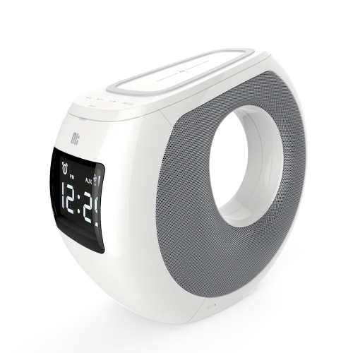 NILLKIN MC1 Alto-falante BT com função de carga sem fio QI Ligação NFC Exibição de tempo LCD Despertador Carregamento USB para iPhone X iPhone 8 Samsung S8