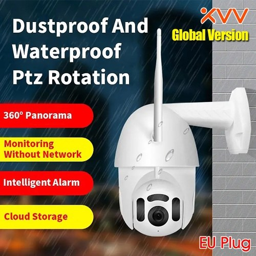 Versión global Xiaovv PTZ Panorama Cámara IP MVR3120S-B7 1080P HD Cámara de seguridad para el hogar Detección humana Wi-Fi Impermeable Cámara al aire libre a prueba de polvo