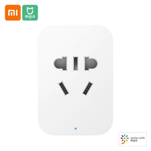 Xiaomi Mijia Smart Socket 2 BT-Gateway-Version ZNCZ07CM Mijia APP Drahtlose Fernbedienung Timer-Socket-Adapter Intelligente Verknüpfung Smart Home-Stecker Unterstützung für die Stromerkennung iOS Andriod
