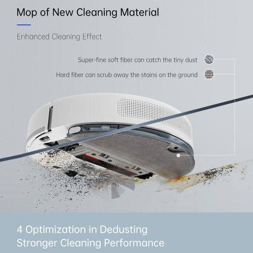 Global Version TROUVER Robot LDS Vacuum-Mop Finder Home Sweeping Mopping Cleaner LDS Laser Navigation/2000Pa Suction/Preset and Timer/MI Home APP Remote Control Vacuum Cleaner for Smart Home