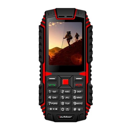 Ioutdoor T1 Tri-proof Feature Celular 2G GSM 2.4inch MTK6261A CPU 128MB + 32MB Armazenamento 2MP Câmera traseira 2100mAh Bateria IP68 Impermeável Dual SIM MP3 Cellphone