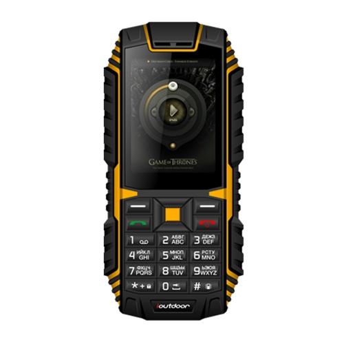 Ioutdoor T1 Tri-proof Feature Мобильный телефон 2G GSM 2.4inch MTK6261A CPU 128MB + 32MB Хранение 2MP Задняя камера 2100mAh Аккумулятор IP68 Водонепроницаемый Dual SIM MP3 сотовый телефон