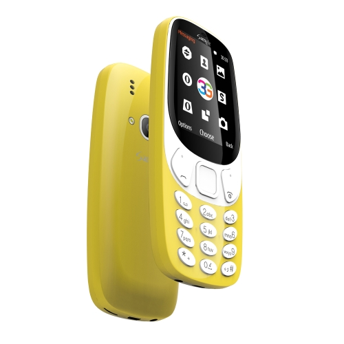 Samgle 3310 3G WCDMA Feature Unlocked Phone tela 3D de 2,4 polegadas SC7701B 64MB RAM 128MB ROM 1450mAh bateria