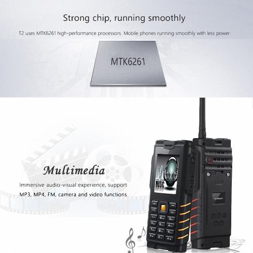ioutdoor T2 Feature Mobile Phone IP68 Waterproof 2 Way Radio Walkie Talkie