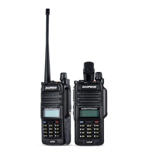 Originale BAOFENG UV-5R WP IP67 DMR digitale impermeabile ricetrasmettitore mobile a 2 vie radio walkie-talkie VHF / UHF Dual Band Handheld Transceiver citofono con display LCD FM Radio Receiver 5W 128 canali di memoria DTMF Encode emergenza Allarme VOX con Stand