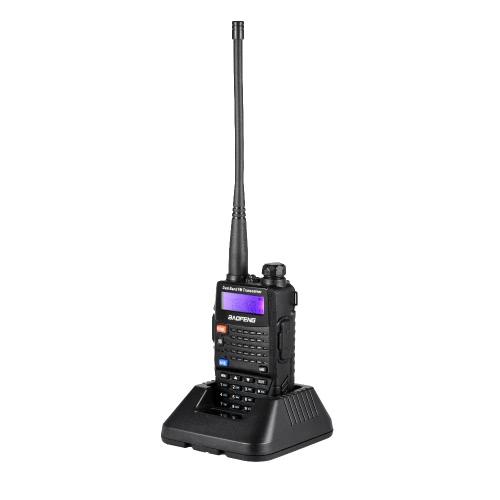 Przenośne radio 2-drożne BAOFENG UV-5RC Walkie Talkie Ręczne nadajnik-odbiornik FM VHF / UHF z panelem FM Odbiornik FM 128 kanałów pamięci DTMF Kodowanie VOX ze stojakiem