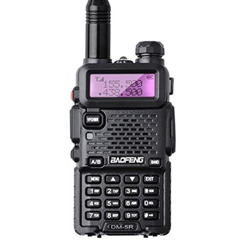 Baofeng DM-5R Rádio portátil VHF UHF Dual Band DMR Digital Anolog Dual Mode 5W 128CH Walkie Taklie Lanterna DM5R Transceptor