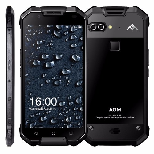 AGM X2 Rugged 4G Cellulare 6 GB + 128 GB EU Plug (NERO)