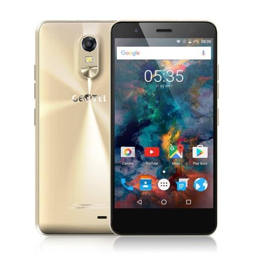 Geotel Nota Smartphone 4G LTE telefone 5.5inch HD IPS tela de 1280 * 720pixel MTK6737 4xCortex-A53 1.25GHz CPU 3GB RAM 16GB ROM Android 6.0 8.0MP + 5.0MP Camera 3200mAh Battery Dual SIM GPS OTA FM Telefone