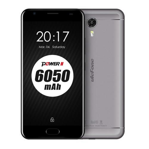 Original uleFone alimentação 2 Smartphone 4G FDD-LTE 5.5inch Telefone FHD tela 1920 * 1080pixel MTK6750T Octa-Core 1.5GHz CPU Android 7.0 4GB RAM 64GB ROM 13.0MP + 8.0MP câmeras 6050mAh bateria grande Quick Charge Fingerprint WiFi GPS OTG Dual Sim Telefone