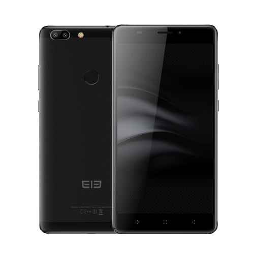 Elephone C1 Max 4G LTE Smartphone Téléphone 6.0inch HD écran 1280 * 720pixel MTK6737 CPU Quad-core 2 Go de RAM 32GB ROM Android 7.0 5.0MP + 13.0MP double caméra de recul 5.0MP avant Caméra Batterie 2800mAh Dual Sim d'empreintes digitales GPS OTG WiFi Mobile