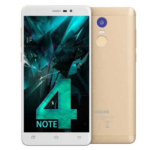 UHANS Примечание 4 Смартфон 4G Смартфон 5,5 дюйма 3 ГБ ОЗУ 32 ГБ ROM