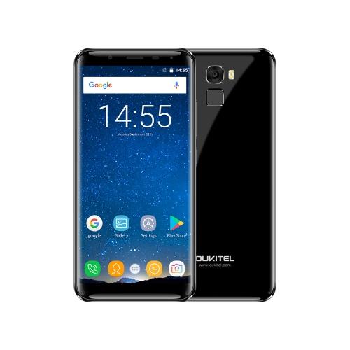 OUKITEL K5000 5.7 pouces 18: 9 sans puce téléphone portable 4G-LTE empreintes digitales Smartphone 4 Go de RAM 64 Go ROM