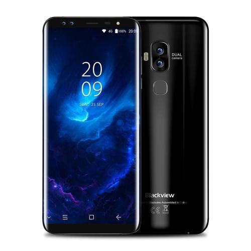 Blackview S8  Mobile Phone 5.7-inch 18:9 Curved Bezel-less Full Screen 4G-LTE Fingerprint 4-camera Smartphone 4GB RAM 64GB ROM