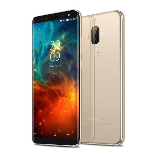 Blackview S8  Mobile Phone 5.7-inch 18:9 Curved Bezel-less Full Screen 4G-LTE Fingerprint 4-camera Smartphone