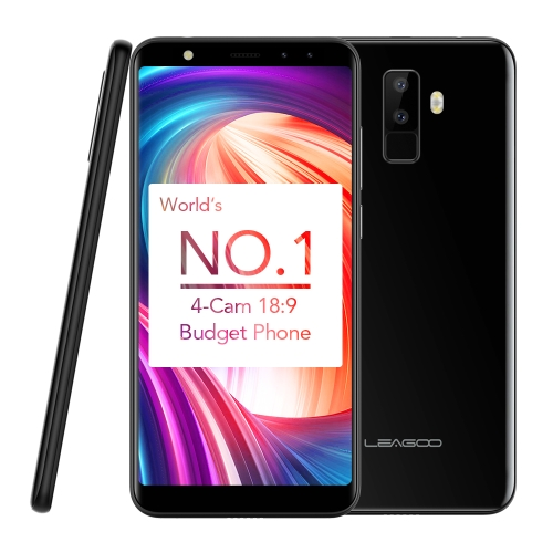 LEAGOO M9 Quad-Cam 18: 9 Full Screen Cellulare Fingerprint da 5,5 pollici HD 2 GB + 16 GB