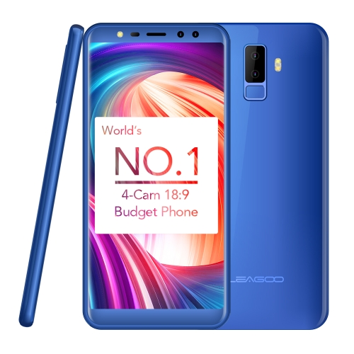 LEAGOO M9 Quad-Cam 18:9 Full Screen Mobile Phone Fingerprint 5.5-Inch HD  2GB+16GB