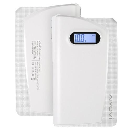 AIYOVi BT-05 13000mAh Power Bank External Battery Portable Charger Backup Pack + Mini Wireless Stereo Headset Earphone Headphone Bluetooth 4.0 with Microphone