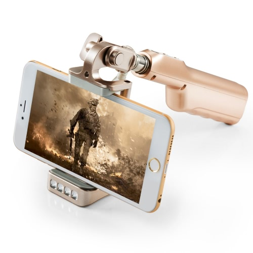Mlais 2-in-1 Portable Extendable Cable Selfie Handheld Monopod Stick Holder + 3200mAh Power Bank with Mirror Flasher for iPhone 6 6 Plus 6S 6S Plus Samsung Smartphone PA3320W