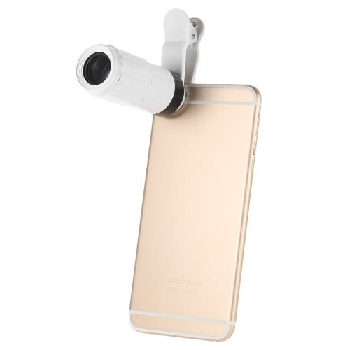 BR003 Universal 8X Zoom Phone Telephoto Camera Lens with Clip for iPhone Samsung HTC Photography Accessory