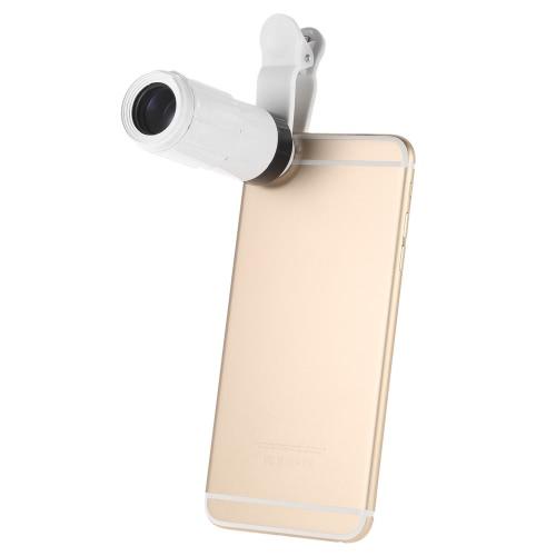 Universal 8 X Zoom telefone Camera telefoto com Clip para iPhone Samsung HTC fotografia acessório