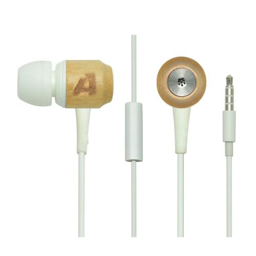 Arealer Premium Universal de madeira cerejeira madeira genuína na orelha fones fones de ouvido fone de ouvido com microfone para iPhone PC Tablet Sony HTC Android Smartphones