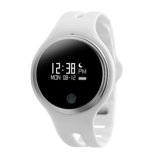 E07 スマート時計 0.96」OLED スクリーン IOS 7.0 用 Android 4.3 ブルートゥース 4.0 またはスマート フォン GPS モーション歩道上自転車に乗って/実行モード呼び出しアラーム スリープ監視音楽/携帯電話のカメラ制御の場所