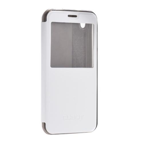Elegante flip tampa Shell PU capa de couro protetora flip book com tampa do suporte do telemóvel para Cubot Manito