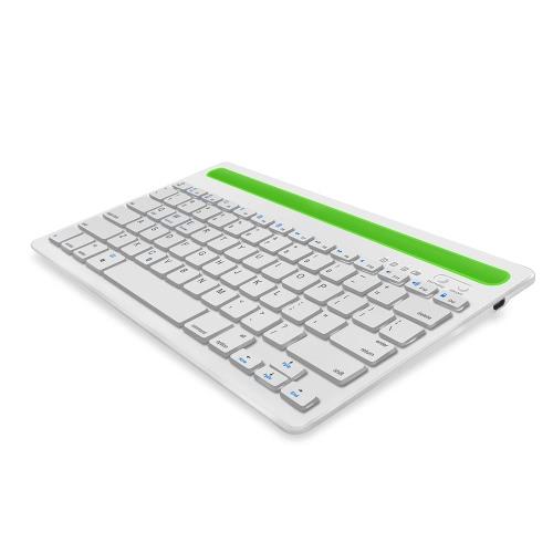 Teclado de canal duplo Teclado sem fio BT para Tablet Laptop