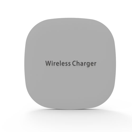 Portable Qi Wireless Charging Pad Base Station Fast Charge Phone Fast Charger Ultra fino para Samsung Galaxy S8 / S8 Plus / S7 / S7 Edge / S6 Edge + / Nota 5 / Nota 7 / Nota 8 ou para o iPhone X / 8/8 Plus e outros Qi Dispositivos habilitados