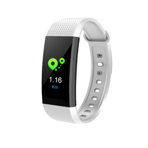 Bransoletka Smart Band Watch Wristband Fitness Tracker BT 4.0 Android iOS Kompatybilność 0.96in Ekran dotykowy OLED Biały