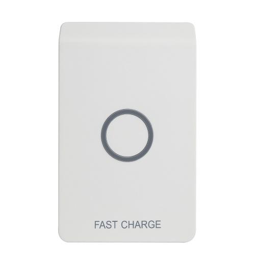 Support de chargement sans fil Qi rapide sans fil Chargeur Pad de charge avec sortie USB supplémentaire pour iPhone 8 Plus / 8 / X et Samsung Galaxy S8 / S8 + / S7 / S7 bord / S6 Edge + / Note 5 / Note 8 et plus
