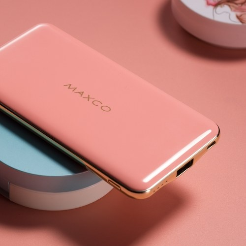 MAXCO MR8000C Power Bank 8000mAh Portable Charger Ultra-Compact Backup Charger 2.4A Output High-Speed Charging for iPhone iPad Samsung Galaxy and More