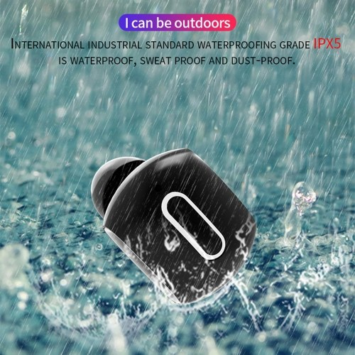 BT 5.0 Wireless In-Ear Earphone Mini Sport IPX5 Waterproof Swearproof Earbuds with Charging Case PA4627W