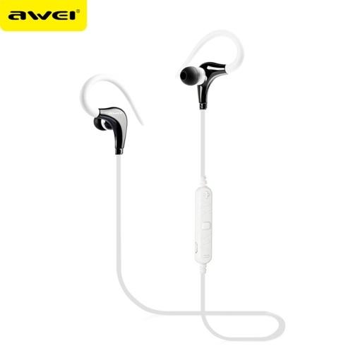 Awei A890BL Auricolari sportivi in-ear BT Cuffie stereo universali Auricolari sportivi impermeabili traspiranti con gancio per l'orecchio