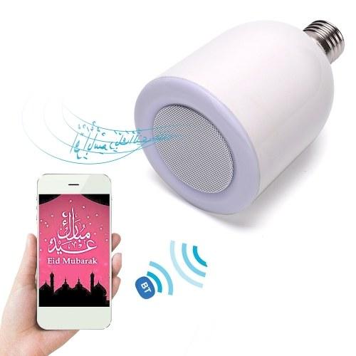 E27 Speaker LEDs Light Bulb BT Loudspeaker Remote Control Music Lamp Bulb
