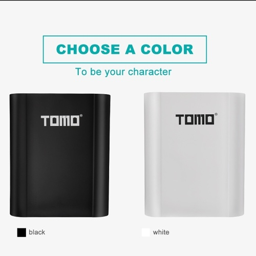 TOMO T4 18650 Li-ion Battery Charger 2 Input Case 5V 2A Output Power Bank External USB Charger with Intelligent LCD Display for Cellphones