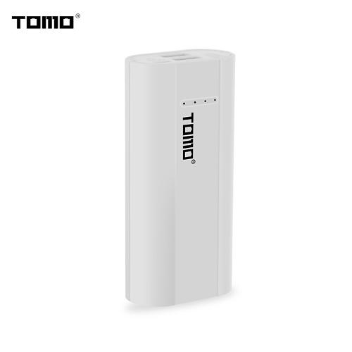 TOMO P2 Cargador para cargar 2 x 18650 Li-ion Batería universal Banco de energía DIY Batería portátil inteligente Cargador USB con pantalla LCD Pantalla de salida dual