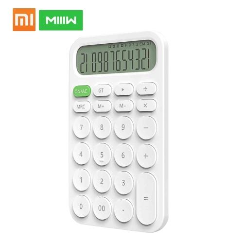 Xiaomi MIIIW калькулятор мини настольный электронный портативный калькулятор 12 цифровой светодиодный дисплей автоматического выключения для офиса