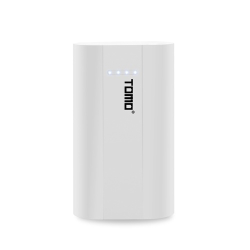 TOMO A2 Power Bank 2 * 26650 Display LCD per batterie al litio Micro USB Input Dual Output Contenitore di batteria portatile intelligente per cellulare